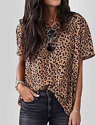 cheap -Women's Leopard Print T-shirt Daily Khaki