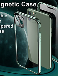 cheap -Magnetic Adsorption Tempered Glass Metal Case For Iphone SE 2020 / X / XS / XR / XS MAX / 8 / 8 Plus / 7 / 7Plus Coque 360 Protective Cases For Iphone 11 Pro Max / 11 / 11 Pro