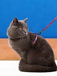 cheap -Cat Harness Leash Adjustable / Retractable Cartoon Nylon Rainbow Purple