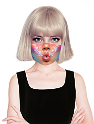 cheap -Women's Face cover Spandex Fashion Home MouthMask Layered Fall Winter Spring Summer