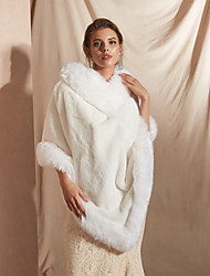 cheap -Sleeveless Shawls / Capes Faux Fur Party / Evening Shawl & Wrap / Women's Wrap With Button