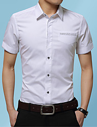 cheap -Men's Daily Work Business / Basic Shirt - Leopard / Plaid Royal Blue