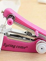 Недорогие -1шт портативный мини ручной швейной машины простые операции швейные инструменты швейная ткань ткань удобный инструмент для рукоделия lyq