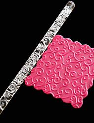 Недорогие -1шт помадка прозрачная акриловая резная скалка цветок ротанга печать diy