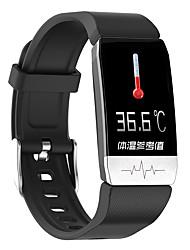 Недорогие -термометр dmdg умные браслеты bluetooth сенсорный экран монитор сердечного ритма измерение артериального давления сожженные калории термометр ecgppg шагомер android ios