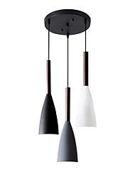 cheap -3-Light 45 cm Single Design Pendant Light Metal Basic / Mini / Asymmetric Hem Nature Inspired / Nordic Style 110-120V / 220-240V