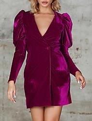cheap -Womens Blazers Long Sleeve Velet Prom Vintage Dresses MM0221