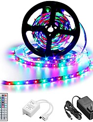 cheap -1 set LED Strip Lights Kit RGB Tiktok Lights DC12V Power Supply SMD 3528 8mm 5M 300leds 60ledsm With 44key Ir Remote Controller for Kicthen Bedroom Sitting Room And Outdoor EU AU UK US Plug