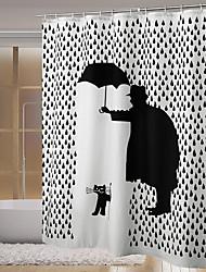 Недорогие -устойчивый к плесени цифровой печатный котенок 3д водонепроницаемый водонепроницаемый и экологически чистый занавески для душа