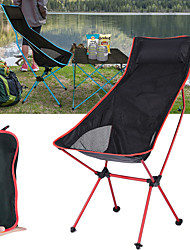 cheap -Camping Chair High Back with Headrest Ultra Light (UL) Foldable Breathable Comfortable Mesh 7075 Aluminium Alloy for Camping / Hiking Fishing Beach Outdoor Autumn / Fall Spring Blue Red Orange Dark