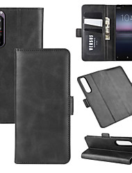 cheap -For Sony Xperia 1 II Wallet Stand Leather Cell Phone Case with Wallet & Holder & Card Slots