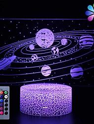abordables -sistema galáctico 3d ilusión óptica lámpara universo espacio galaxia luz nocturna para niños niños y niñas como en cumpleaños o días festivos