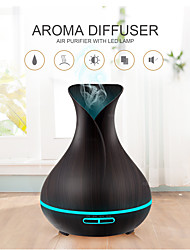 cheap -400ml Ultrasonic Electric Air Humidifier Aroma Oil Diffuser Wood Grain remote control 7 colors LED Lights cool mist maker