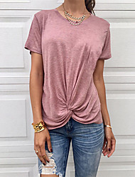 Недорогие -сексуальные блузки размера eu / us для женщин выходного дня - сплошная пыльная роза с розовым вырезом на плече