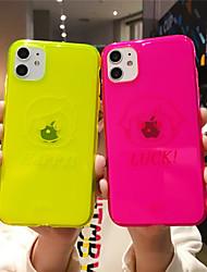 Недорогие -чехол для apple iphone 11 11 11 pro max флуоресцентный английский любители чистого цвета чехол ультратонкий материал тпу процесс покраски устойчивый к царапинам чехол для мобильного телефона