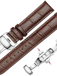 Недорогие -Воловья кожа Ремешок для часов Ремень для Черный / Коричневый 20cm / 7.9 дюймы 1.4cm / 0.55 дюймы / 2cm / 0.8 дюймы