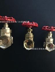 cheap -Outdoor Water Equipment Valve Threaded Brass Gate Valve Pick Size Follow #1 1/2 #2 3/4 #3 1 #4 11/4 #5 11/2