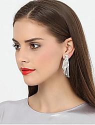 cheap -Metalic Earring with Rhinestone 1 Pair Wedding / Daily Wear Headpiece