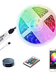 cheap -ZDM 5M LED Light Strips RGB Tiktok Lights WiFi Intelligent Remote Dimming Watetproof 300 LEDS 5050 SMD with IR24 key Controller Kit DC12V