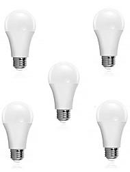 cheap -5pcs 5 W LED Smart Bulbs 300 lm E26 / E27 15 LED Beads SMD 2835 Sensor Smart Decorative White 180-240 V / RoHS