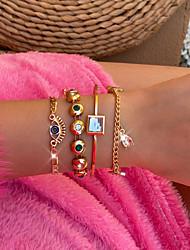 cheap -Women's Cuff Bracelet Vintage Bracelet Pendant Bracelet Stacking Stackable Star Stylish Simple Vintage Punk Acrylic Bracelet Jewelry Gold For Gift Date Birthday Festival