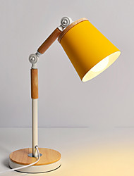 cheap -LED Wood Craft Iron Macaron Study LED Table Lamp 1 pc
