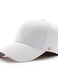 Недорогие -Муж. Шляпа от солнца Полиуретановая Хлопок Классический - Однотонный Все сезоны Белый Черный Красный