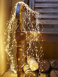 cheap -1X 10M 100Leds LED String Light Silver Wire Fairy Flexible String Warm White Garland Home Christmas Wedding Party Colorful Decoration Powered by AA Battery Battery (come without battery)