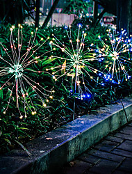 cheap -12.5cm String Lights 120 LEDs 1 set Warm White White Multi Color Christmas New Year's Waterproof Solar Christmas Wedding Decoration Solar Powered