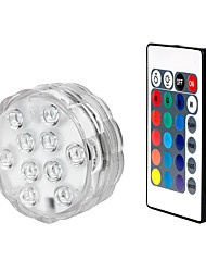 cheap -1 Set  Waterproof RGB Led Lamp with Remote Submersible LED Lights Decoration Light for 8.5CM-with 28 Key Remote Control