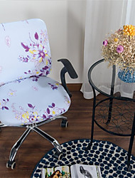 Недорогие -синий цветочный принт компьютер офисный стул крышка сплит защитная эластичная ткань полиэстер универсальный рабочий стол стул чехлы на стулья стрейч сгущаться вращающийся стул чехол