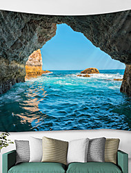 cheap -Wall Tapestry Art Decor Blanket Curtain Picnic Tablecloth Hanging Home Bedroom Living Room Dorm Decoration Nature Landscape Sea Ocean Wave Cave
