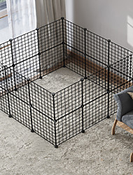 cheap -Dog Playpen Play House Fence Systems Foldable Washable Durable Free Standing Metal Black 24