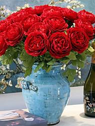 Недорогие -45 см симулятор пион цветок шелковый цветок свадьба украшение дома цветок 1 палка