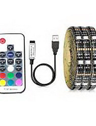cheap -0.5M 1M 2M Flexible LED Light Strips RGB Tiktok Lights TV Background Lights 15 LEDs SMD5050 10mm 1 17Keys Remote Controller 1 set Multi Color Waterproof USB Self-adhesive 5 V