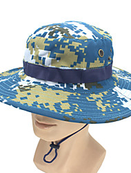 cheap -Hiking Hat Fishing Hat Fisherman Hat Hat 1 PCS Portable Sunscreen UV Resistant Breathable Solid Color Polester / Cotton Blend Autumn / Fall Spring Summer for Men's Women's Camping / Hiking Hunting