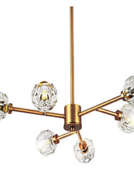 cheap -65cm Brass Sputnik Crystal Ball Shade Semi Close to Ceiling Light Flush Mounted Branches Chandeliers Polished Gold with 6 Light 240W Small Size