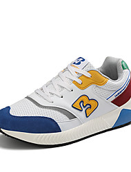 cheap -Women's Athletic Shoes Flat Heel Round Toe PU Sporty Running Shoes Spring & Summer White / Blue / Army Green / Orange / Color Block