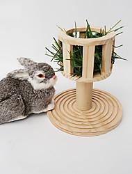 Недорогие -кормушка для сена цилиндрическая подставка кормушка менеджер с крышкой для морской свинки кролик шиншилла кролик