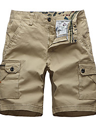 cheap -Men's Hiking Shorts Hiking Cargo Shorts Summer Outdoor Standard Fit Breathable Ultra Light (UL) Sweat-wicking Comfortable Cotton Shorts Bottoms Camping / Hiking Hunting Fishing Army Green Burgundy