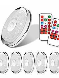 cheap -6 Lights 2 Remote Controls  Timing Cabinet Lights Under Cabinet Lighting Wardrobe Lights LED Night Lights Colored Lights Dimmable Home Light Decoration Sensor Lights IncludingSimple Installation  AAA