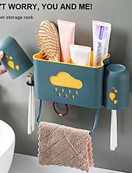 Недорогие -Ванная комната для хранения зубной щетки полка зубная паста держатель зубной щетки на стене зубная кружка стойка зубная щетка чашка настенный цвет случайный