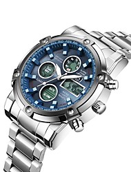 cheap -ASJ Men's Sport Watch Military Watch Analog - Digital Digital Casual Water Resistant / Waterproof Alarm Chronograph / One Year / Stainless Steel