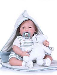 Недорогие -NPKCOLLECTION 20 дюймовый Куклы реборн Мальчики как живой Новый дизайн Искусственная имплантация Коричневые глаза с одеждой и аксессуарами на день рождения и праздничные подарки для девочек