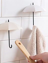 cheap -3pcs/lot Creative Umbrella Shaped Key Hanger Rack Home Decorative Holder Wall Hooks For Kitchen Bathroom Accessories Gadgets
