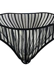 cheap -Men's Mesh Briefs Underwear - Normal Low Waist Black One-Size