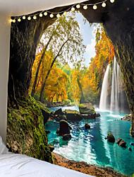 cheap -Mooie Cave Waterval Print Muur Hippie Tapestry Polyester Stof Home Decor Muur Tapijt Tapijten Opknoping Grote Bank Deken