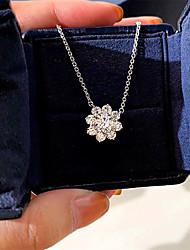Недорогие -3 карата Синтетический алмаз Цепочка Серебристый Назначение Жен. Принцесса вырезать Стиль Роскошь Классика Элегантный стиль Свадьба Вечерние Официальные Высокое качество вымостить