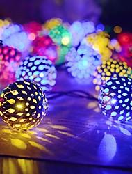 cheap -30ball Solar Globe String Lights Moroccan Ball String Lights Warm 30LED Fairy Christmas Festival Wedding Party Decoration