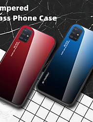Недорогие -роскошный градиент из закаленного стекла чехол для телефона для samsung galaxy a91 a81 a50 a01 a51 a71 a90 5g a80 a70 a60 a40 a30 a20 a10 a20e противоударная задняя крышка мягкий тпу силиконовая